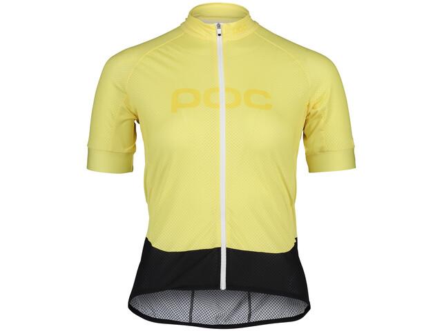 POC Essential Road Logo Kurzarm Trikot Damen light sulfur yellow/sulfur yellow